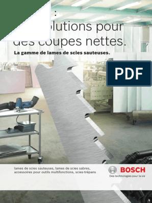 feuille métaux aluminium Bosch S922HF sabre lame bois pack de 2