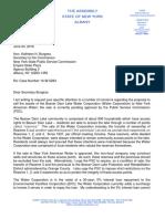Skoufis PSC Beaver Dam Lake Water Corp Letter