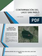 Contaminacion del Lago San Pablo- trabajo de ecologia