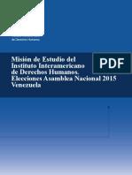 CAPEL - Informe_Mision de Estudio IIDH Parlamentarias 2015
