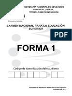 Modelo de ENES- EXAMEN NACIONAL PARA LA EDUCACION SUPERIOR