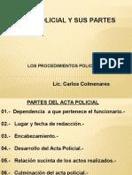 2.-Acta Policial y Sus Partes.