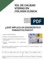 Control de Calidad Interno en Parasitología Clínica