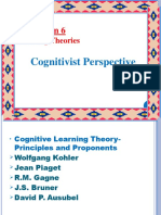 Cognitivist Learning Theory