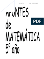 APUNTES  DE 5° AÑO 2016