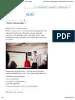 Error Correction 1 | TeachingEnglish | British Council | BBC