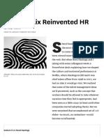 How Netflix Reinvented HR