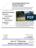 Jodo Mission Bulletin - July 2016