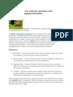 SWOT Analysis for Schools
