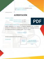Acreditación Para Concursos XXIV CONEIC 2016 Ayacucho