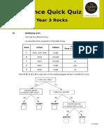 Quick Quiz Y3 Rocks