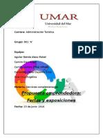 Proyecto Emprendedor Ferias y Exposiciones Modelo CANVAS