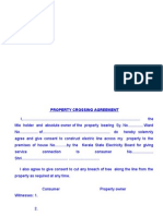 0096 0467 - Property Crossing Agreement Kseb in Stamp Paper