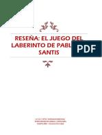 RESEÑA El Juego Del Laberinto