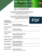 Programa y Cronograma Rally Nacional 2016 MODIFICADO