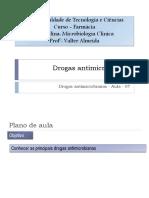 Drogas Antimicrobianas
