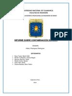 Informe Contaminación de Agua
