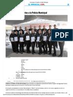 20-05-16 Se incorporan 19 agentes a la Policía Municipal