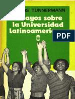 Tünnerman Bernheim, Carlos -Ensayo Sobre La Universidad Latinoamericana