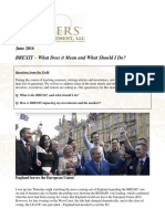 BREXIT - What Does It Mean and What Should I Do? - Gevers Wealth Management, LLC June 2016 - CA