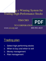Tim Cho - Winning System for Trading High-Performance Stocks