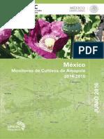 Monitoreo de Cultivos de Amapola 2014-2015