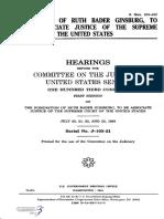 Ginsburg Confirmation Hearing