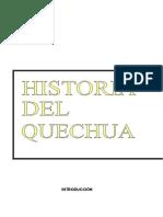 historia del quechua