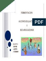 Fermentaciones Alcoholica y Lactica