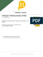 Heideggers Misinterpretation of Rilke