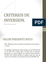 Criterios de Inversion