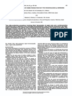 Analytical Control of Cider Production by Two Technological Methods