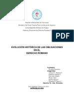 Evoluciòn Històrica de Las Obligaciones Exposición