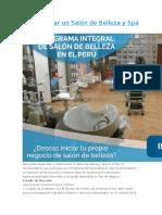 Como Iniciar Un Salón de Belleza y Spa en El Perú
