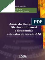 Congresso Direito Ambiental e Economia o Desafio Do Seculo XXI