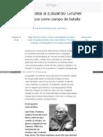Entrevista a Eduardo Grüner La Cultura Como Campo de Batalla