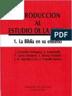 Gonzalez Echegray, j - La Biblia en Su Entorno