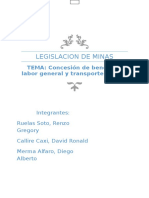 Legislacion de Minas Para Presemtar