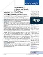 Enhanced Therapeutic Alliance Modulates Pain Intensity and Muscle Pain Sensitivity in Patients With Chronic Low Back Pain- Fuentes 2013