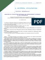 Arrêté Formation Doctorale 2016