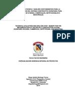 Evaluación Técnica y Análisis Costo-beneficio Para La Implementación Del Sistema Constructivo DURAPANEL