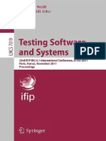 Testing Software and Systems (2011)