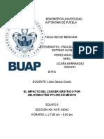 El Impacto Del Cáncer Gástrico Por Helicobacter Pylori en México