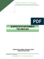 Especif. conduccion, Redes, Conexiones, Micromedic.doc