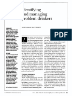 Identifiyng and Managing Problem Dinrkers