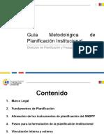 Metodología Planificación Institucional