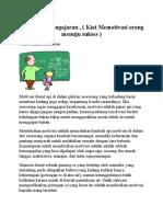 Metodologi Pengajaran , ( Kiat Memotivasi Orang Menuju Sukses )