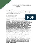 Ringkasan Materi Bahasa Indonesia Kelas Vii (Tujuh)