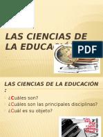 Las Ciencias de La Educación (1)