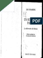 UN SUEÑO DE PASIÓN (LA ELABORACIÓN DEL MÉTODO) [LEE STRASBERG]